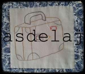 Colcha María y Dani maleta